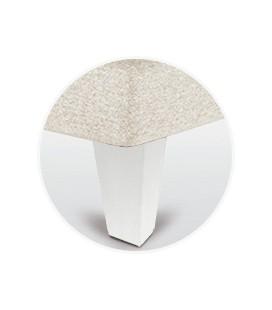 Juego patas piramidal blanca de 15 cm para canapé