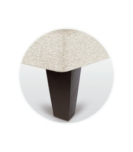 Juego patas piramidal chocolate de 15 cm para canapé