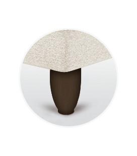Juego patas oval chocolate de 15 cm para canapé