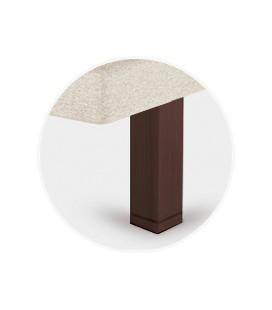 Juego patas cuadrada chocolate de 25 cm para tapibase