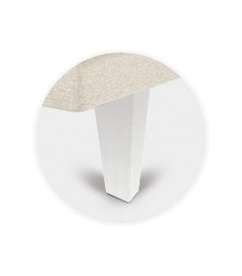 Juego patas piramidal blanca de 25 cm para tapibase
