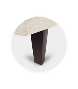 Juego patas piramidal chocolate de 25 cm para tapibase