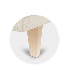 Juego patas piramidal abedul de 25 cm para tapibase