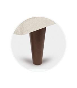 Juego patas conica chocolate de 25 cm para tapibase