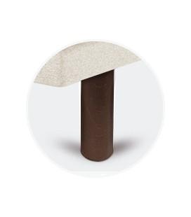 Juego patas cilíndricas chocolate de 25 cm para tapibase