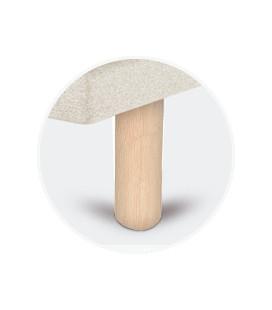 Juego patas cilíndricas abedul de 25 cm para tapibase