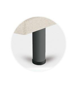 Juego patas cilíndricas metal gris de 25 cm para tapibase